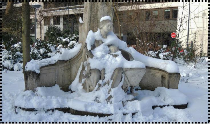 Et un P'tit Quinquin sous la neige !
