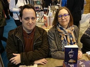 Bertrand Campeis et Karine Gobled, auteurs du Guide de l'uchronie, en dédicace au Salon du Livre